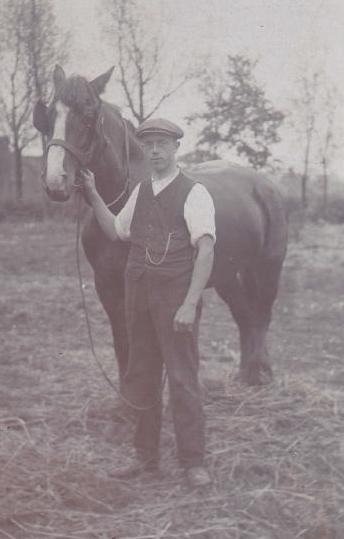 Arthur Smith with working horse